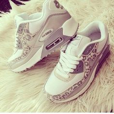 Grey leopard nike air max