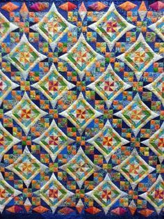 Celtic Solstice quilt... I like how the quilting makes the white look raised