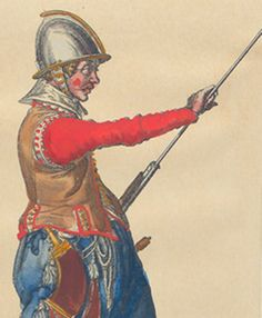 16th-17th century musketeer illustrations from De Gheyn musketeer manual