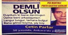 EN KOMİK POSTA GAZETESİ ŞİİRLERİ