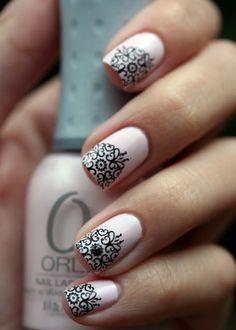 50+ Lace Nail Art Designs & Ideas
