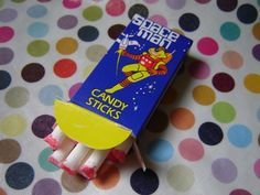 """They're called candy """"sticks"""" but most of you will probably remember them as """"the lollies that look like smokes"""". Description from stuff.co.nz. I searched for this on bing.com/images Frozen Yoghurt, Kiwiana, Diet Pills, Confectionery, Auckland, Pop Tarts, First Birthdays, Sticks, Beautiful Places"""