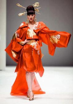 A dress inspired by kimono.
