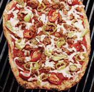 Sausage and Sweet Pepper Grilled Pizza