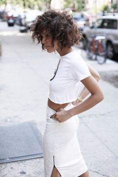 Christina Caradona is wearing a top from Kerol and skirt from French Connection