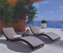 Home garden outdoor furniture swimming pool rattan beach sun bed lounge chair