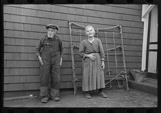 Mr. and Mrs. Andrew Ostermeyer, homesteaders, Miller Township, Woodbury County, Iowa. Lee, Russell, 1903-1986, photographer