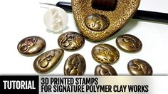 How to use 3D printed sign stamp for signature of your polymer clay work...