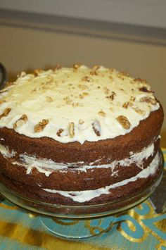 Carrot Cake with Lime Marscapone