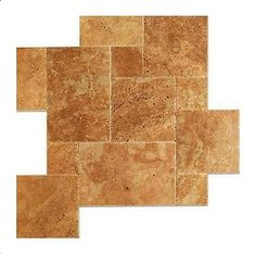 Noce Brushed Travertine French Pattern #naturalstone #travertine #noce #brushed #chiseled #marble #tile #contractor #home #homeimprovement #decor #flooring #fixerupper
