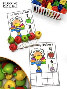 Time to get Cooking!! Add the correct Number of ingredients. - Kindergarten Morning Tubs Kid Check, Small Pumpkins, Beginning Sounds, Kindergarten Class, Colorful Feathers, Letter Sounds, Learning Through Play, Play To Learn, Autumn Theme