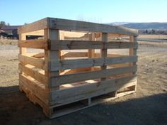budget: repurposed pallet hay feeder.