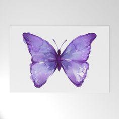 Purple Butterfly Welcome Mat by Olechka - 30