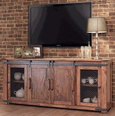 50 cool tv stand designs for your home tv stand ideas diy, tv stand ideas f Tv Stand With Storage, Diy Tv Stand, Small Storage, Tv Cabinets With Doors, Cabinet Doors, Cool Diy, Hidden Tv Cabinet, Barn Door Tv Stand, Barn Doors