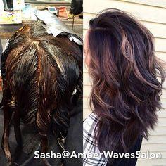 Pinwheel hair color tecnique