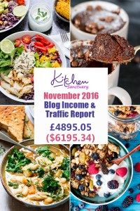 Kitchen Sanctuary Blog Income and Traffic Report November 2016