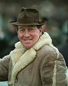 DAVID NICHOLSON RACE HORSE TRAINER 24 March 1995 - Stock Photo