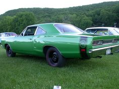 1969 Dodge Superbee - only diffrence was Dad\'s was blue & not green... learned how to drive stickshift w/this car.. burnt 2 clutches out but Dad made sure I knew how to drive!!