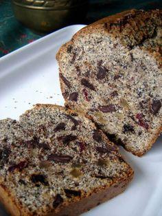 Mákos gyümölcskenyér mindenféle jóval   Mai Móni Poppy Seed Cookies, Loaf Cake, Banana Bread, Food And Drink, Baking, Recipes, Cakes, Cake Makers, Bakken