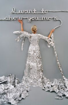 """Rachel Perry Welty, """"Lost in my Life (Tin Foil), 2012"""