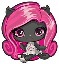 Catty Noir. Monster High Mini. Original Ghouls