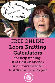 Interactive Knitting Calculators: free online tools for knitters How many stitc. Interactive Knitting Calculators: free online tools for knitters How many stitches to cast on? Loom Knitting Stitches, Bamboo Knitting Needles, Knitting Help, Knifty Knitter, Loom Knitting Projects, Vogue Knitting, Hand Knitting, Knitting Yarn, Knitting Tutorials