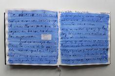 LAURA GUILLÉN15-10-15 DIARIO SKETCHBOOK ARTE ART ARTISTA ARTIST LETRAS LETTERS LIBRO BOOK AZUL BLUE MAMA MOM AMOR LOVE