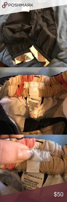 Burberry Navy Blue Nova Check Pants Navy Blue bottom fold up pants - Burberry plaid Burberry Bottoms Casual