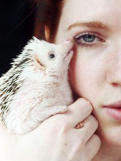 {a girl and her hedgehog}BRANDI