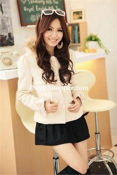 Korean Cute Bow Sleeve Coat