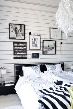 Odotan iltaa @Asuntomessublogit / Ruutupaperilla Exterior Design, Interior And Exterior, Gallery Wall, Decor Ideas, Interiors, Bedroom, Home Decor, Decoration Home, Room Decor