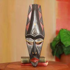 Fair Trade African Decorative Wood Mask Wall Décor