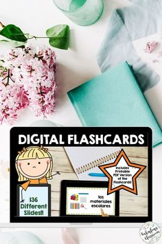 Need a fun, easy way to practice Spanish vocabulary? These digital AND printable flashcards featuring school supplies, subjects, and other classroom objects make learning simple! Words correspond with Así Se Dice 1 Chapter 3, en clase y después. #spanishflashcards #spanishvocabulary #spanishforkids Learning Spanish For Kids, Spanish Teaching Resources, Teaching Materials, Teacher Resources, Homeschooling Resources, Spanish Flashcards, Spanish Vocabulary, Spanish Lesson Plans, Spanish Lessons