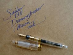 Sailor 1911 Demonstrator, music nib writing sample