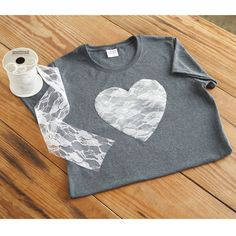 Create this stylish t-shirt for yourself or someone you love. All it takes is a little lace and ...