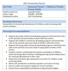 Church Forms and Job Descriptions