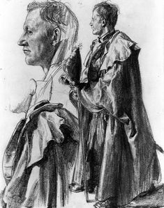 The Athenaeum - Study of a Model for an Officer c. (1859-1860) (Adolph von Menzel - )