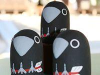 Japanese Design, Folklore, Paper Dolls, Product Design, Kawaii, Animal, Cute, Japan Design, Paper Puppets