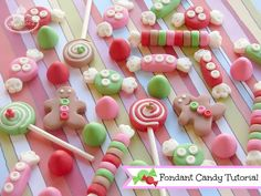 5 fondant candy tutorials are shared on the Craftsy blog!