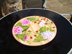 The Hydrangea design on a lazy susan