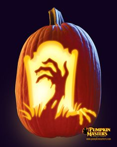 """""""Untold Horrors"""" pattern from the Pumpkin Masters Carving Party Kit."""