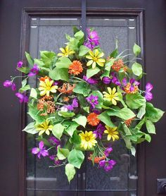 Door Wreath Spring Wreath Summer Wreath Colorful by LuxeWreaths, $115.00