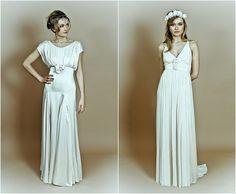 Belle and Bunty slinky wedding dresses :)