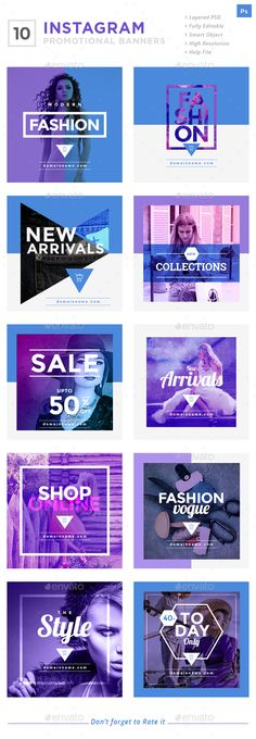Instagram Promotional Banners — PSD Template #promotional #instagram #shoppin