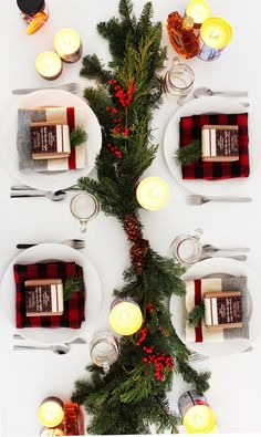 A Winter Holiday Tablescape