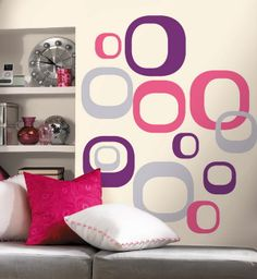 Modern Ovals Peel and Stick Wall Stickers - Wall Sticker, Mural, & Decal Designs at Wall Sticker Outlet Modern Wall Decals, Vinyl Wall Decals, Reusable Wall Stickers, Do It Yourself Design, All Wall, Tree Wall, Cool Walls, Contemporary Decor, Bedroom Wall