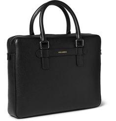 Dolce & GabbanaTextured-Leather Briefcase