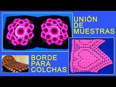 Cómo unir cuadrados para colchas y tejer su borde a crochet - Video 2 - YouTube