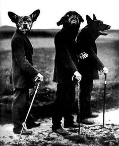 By August Sander November 1876 – 20 April a German portrait and documentary photographer. Photo modified from the original entitled: Young Farmers, Westerwald August Sander, Animal Masks, Animal Heads, Dark Fantasy, Les Fables, Creation Art, Weird And Wonderful, Pics Art, Art Plastique