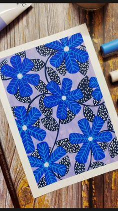 Gouache Painting, Diy Painting, Watercolor Art Lessons, Watercolour, Flower Art Drawing, Posca Art, Mandala Art Lesson, Doodle Art Designs, Art Painting Gallery